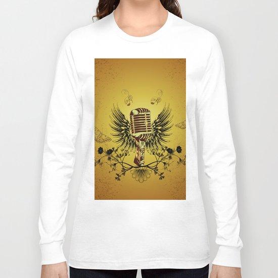 Music, microhpone  Long Sleeve T-shirt