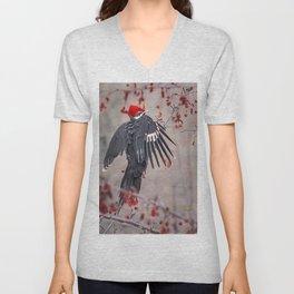Pileated Woodpecker Unisex V-Neck