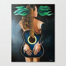 Troubadour Muse Canvas Print
