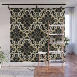 Golden Moroccan Tile Glam #1 #pattern #decor #art #society6 Wall Mural