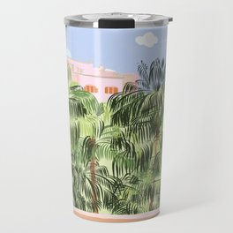Summer Travel #illustration #tropical Travel Mug