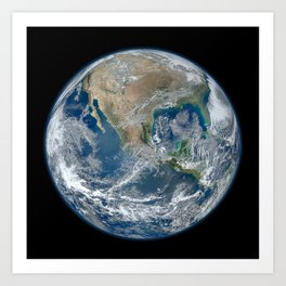 Planet Earth from Above Art Print