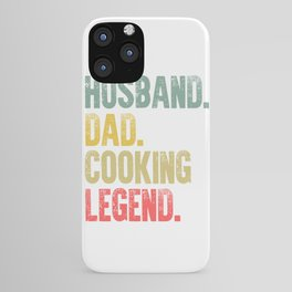 Funny Men Vintage T Shirt Husband Dad Cooking Legend Retro iPhone Case