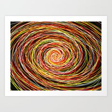 Red and Yellow Then Came to Me Art Print