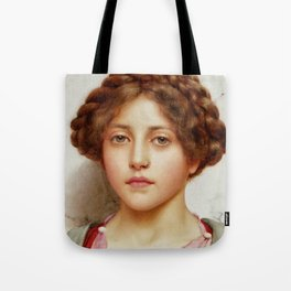 a girl with a pierced nose Tote Bag