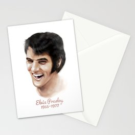 Elvis Presley Tribute Portrait Stationery Cards