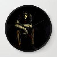 luke hemmings Wall Clocks featuring Luke by Grace Dupre