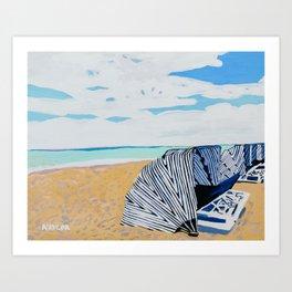 Cabanas Art Print