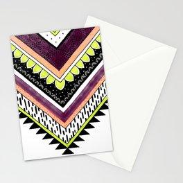 Tribal Chevron - Peach, Plum, Lime Stationery Cards