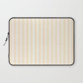 Trendy Large Buttercup Yellow Pastel Butter French Mattress Ticking Double Stripes Laptop Sleeve