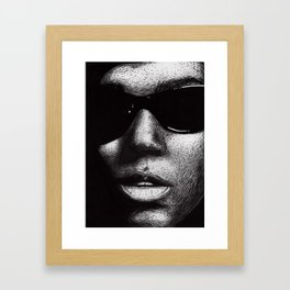 A drawing of Janelle Monáe Framed Art Print