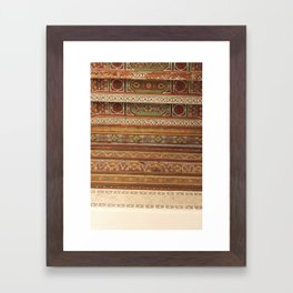 Moroccan Palace Patterns Framed Art Print