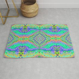 Flowing Life Art Fractal 2 Double Rug