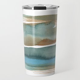 Currents No. 2 - Abstract Watercolour Study Travel Mug