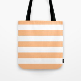 Macaroni and Cheese - solid color - white stripes pattern Tote Bag