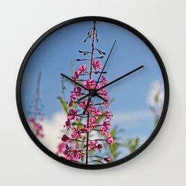 Majestic Fireweed Wall Clock