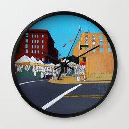 Green Market Plaza Wall Clock
