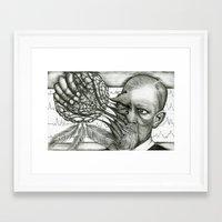 freud Framed Art Prints featuring Freud by CasiRodriguez