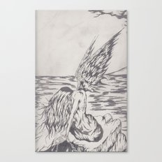 angel on rocks Canvas Print