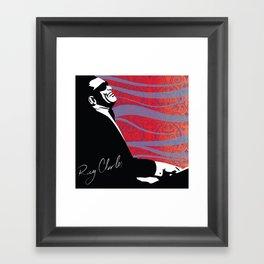 Retro Graffiti Ray Charles Jazz Poster Framed Art Print