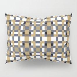 LOGAN caramel and indigo pattern on white Pillow Sham