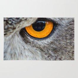 NIGHT OWL - EYE - CLOSE UP PHOTOGRAPHY - ANIMALS - NATURE Rug