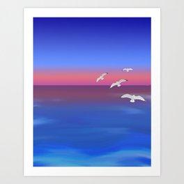 Where the ocean meets the sky Art Print