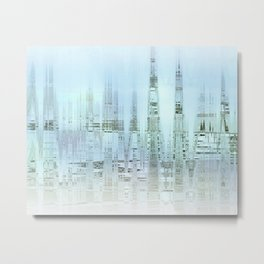 Etherial City - Cool blues Metal Print