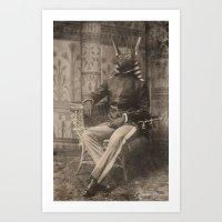 Dark Victorian Portrait Series: High General Anubis Art Print