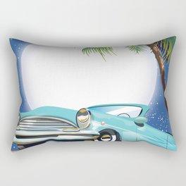 Hollywood Hills California travel poster, Rectangular Pillow