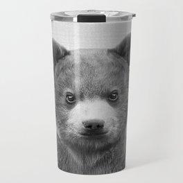 Baby Bear - Black & White Travel Mug