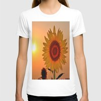 sunflower T-shirts featuring sunflower by  Agostino Lo Coco