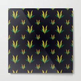 Linear flowers Metal Print
