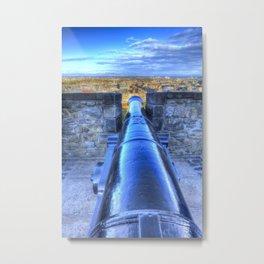 Edinburgh Castle Cannon Metal Print
