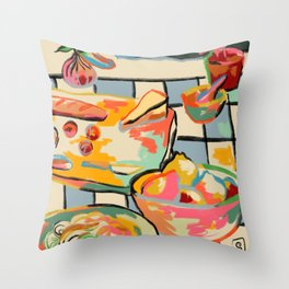 BREAD AND PASTA LOVE  Throw Pillow
