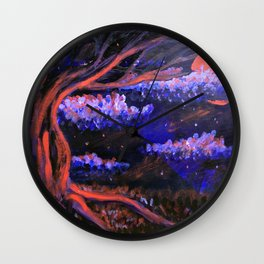 Eerily Oak Wall Clock