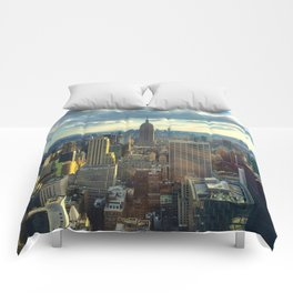 View Of New York City Comforters