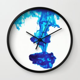 Ink Abstract - Blue Wall Clock