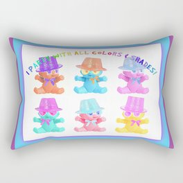 I Party With All Colors & Shades Rectangular Pillow