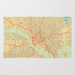 Dallas Map Retro Rug