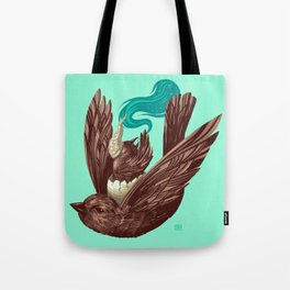 Whiny Evening Vespers While Driving the Sparrow Express (5 word v11) Tote Bag