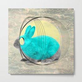 hypnotic rabbit Metal Print