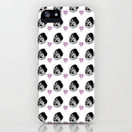 Sad Girl Pattern iPhone Case