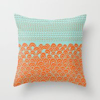 Throw Pillows featuring Infinite Wave by Picomodi