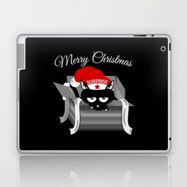 Naughty Cat Merry Christmas Laptop & iPad Skin