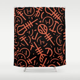 TØP Stickers - Original Logo Red Shower Curtain