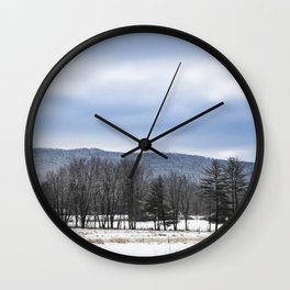 The Winter Line Wall Clock