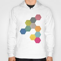 honeycomb Hoodies featuring Honeycomb I by Cassia Beck