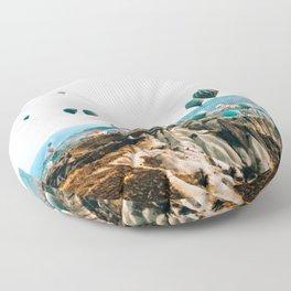 Hot Air Rises | Cappadocia, Turkey Floor Pillow