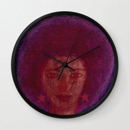 Purple Afro Wall Clock